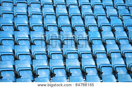 Light Blue Spectators seats at a stadium