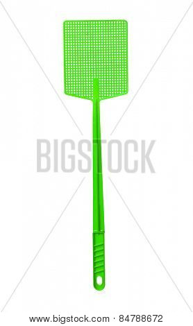 Green Flyswatter isolated on white background