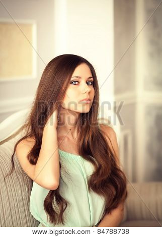 Beautiful Lady In Dress