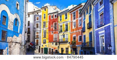 colors of mediterranean towns series - streets of Cuenca, Spain