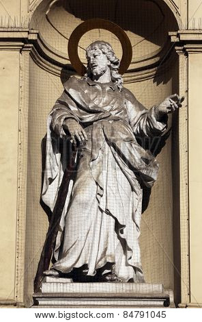 VIENNA, AUSTRIA - OCTOBER 10: St. Jude Thaddeus, Church of Saint Peter in Vienna, Austria on October 10, 2014.