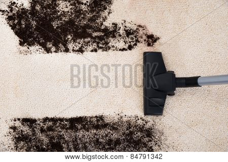 Vacuum Cleaner Cleaning Carpet