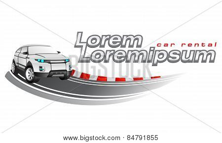 Logo template, car rental