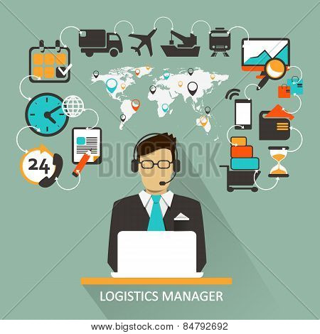 Logistics Manager. Freelance infographic.