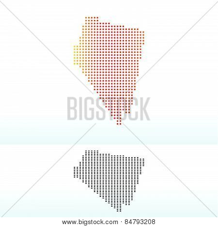 Map Of Usa Nevada State With Dot Pattern