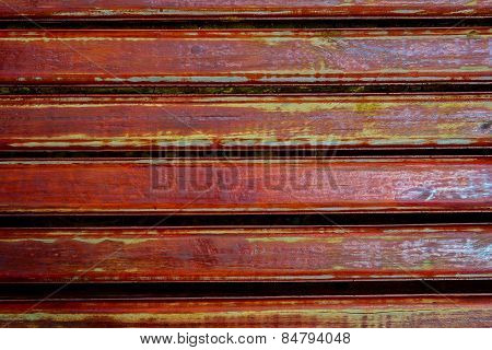 Wooden Bench With Peeling Paint