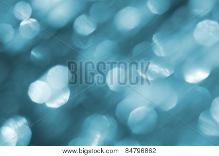 Pastel Blue Background With Bokeh Effect