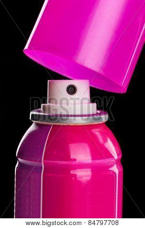 Pink spray aerosol