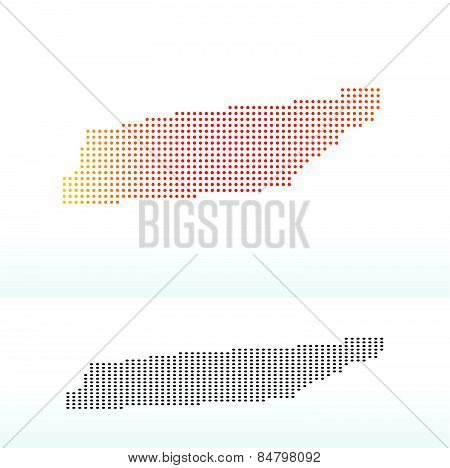Map Of Usa Tennessee State With Dot Pattern