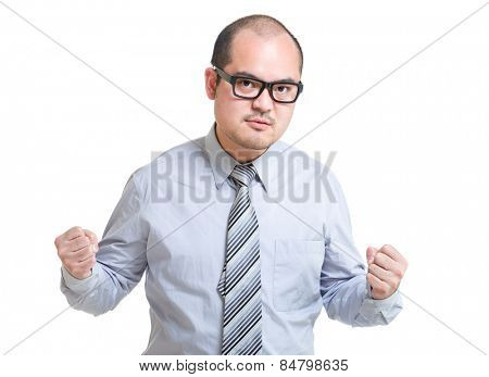 Businessman feel angry