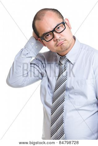 Confused businessman