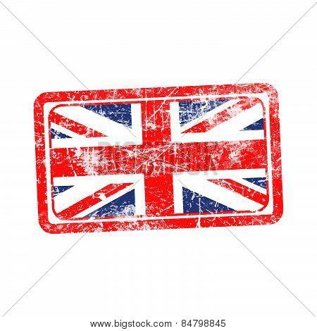 england flag red grunge rubber stamp vector illustration