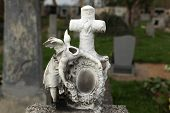 stock photo of tombstone  - Headless angel - JPG