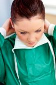 pic of speculum  - Assertive female surgeon wearing scrubs in the hospital - JPG