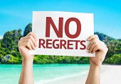 pic of saying sorry  - No Regrets card with beach background - JPG