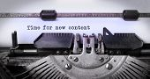 picture of old vintage typewriter  - Vintage inscription made by old typewriter time for new content - JPG