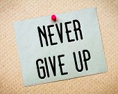 Постер, плакат: Never Give Up Message