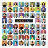 pic of containers  - Set avatars people - JPG