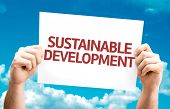 pic of sustainable development  - Sustainable Development card with sky background - JPG