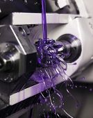 pic of lube  - Close up of Purple Floating Fluid in a machine - JPG
