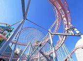 foto of amusement park rides  - Amusement park rides - JPG