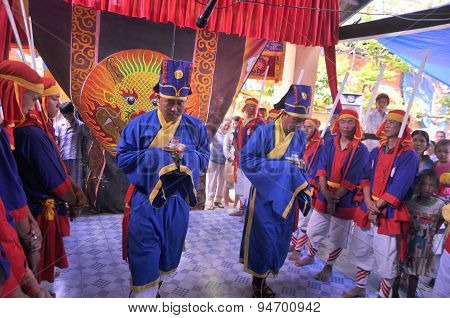 Nha Trang, Vietnam - March 4, 2012: Cau Ngu Festival In Vietnam, Which Is Also Called Whale Festival