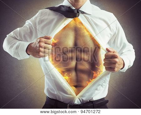 Fire abs businessman