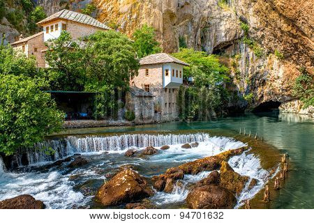 Small village Blagaj on Buna spring