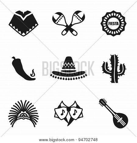 Vector Mexico icon set