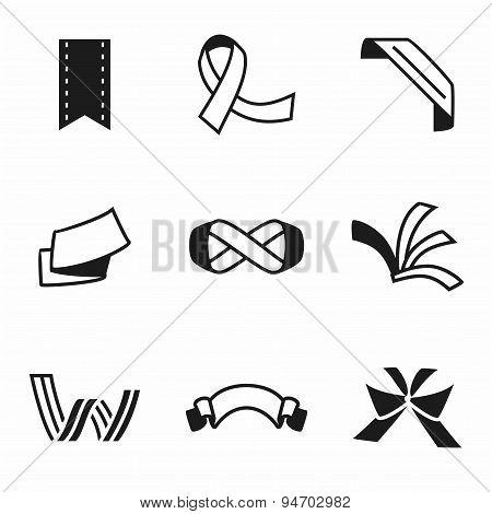 Vector Ribbon icon set