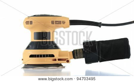 electrical sander isolated on white background.