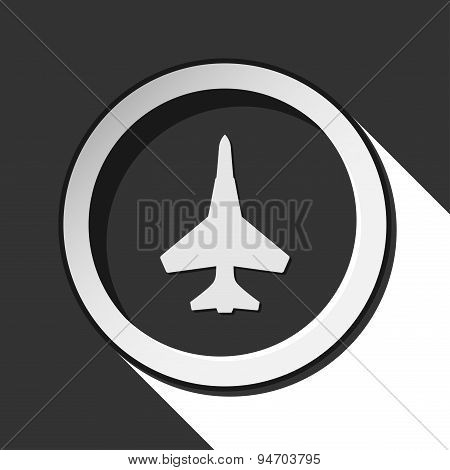 Black Icon - Fighter And Stylized Shadow
