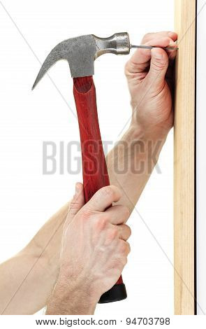 Hammer nail hit
