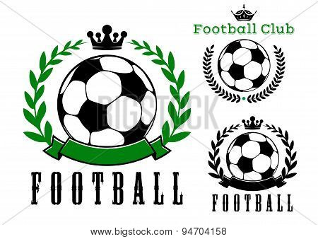 Football or soccer club badges design