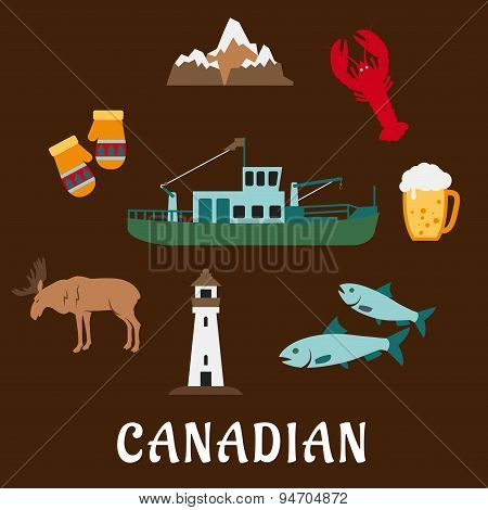 Canadian nature and culture symbols