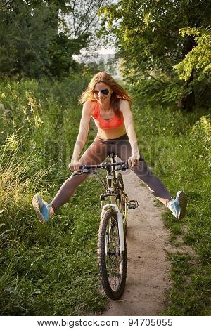 Fun Woman On Bike