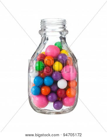 Multicolored Gumballs Bubble Gums