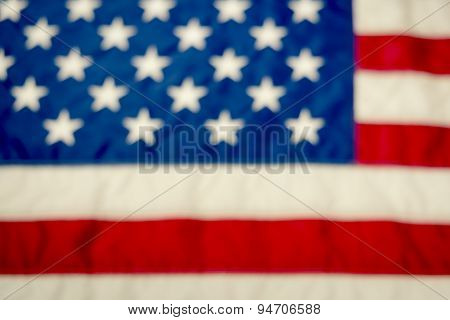 Blurred American Flag Background