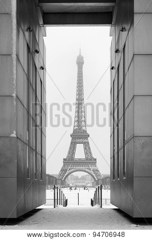 Eiffel Tower Under The Snow