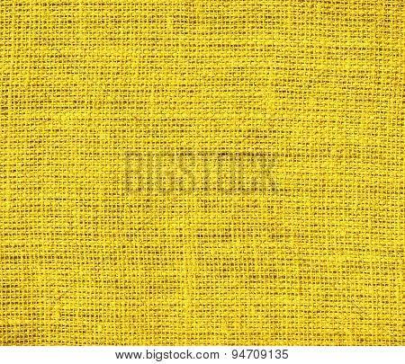 Deep lemon burlap texture background