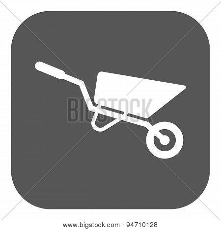 The Wheelbarrow Icon. Barrow Symbol. Flat