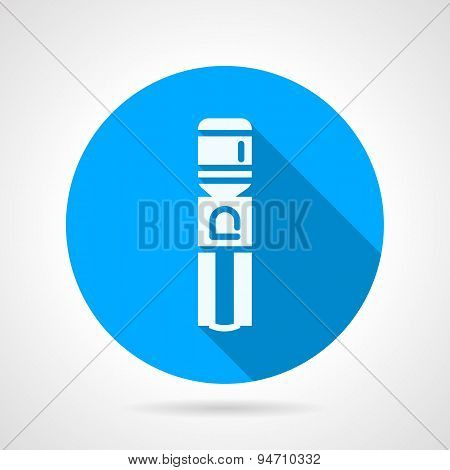 Water cooling machine blue round vector icon