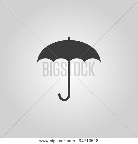 The Umbrella Icon. Protection Symbol. Flat