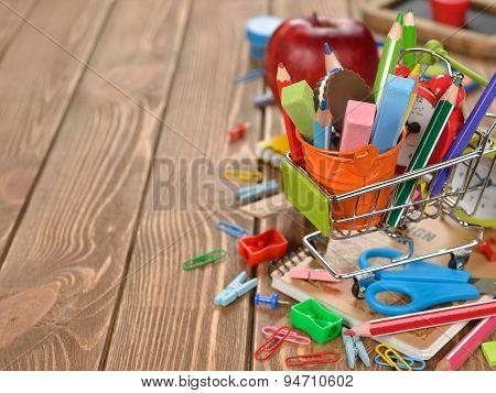 Multicolored School Supplies