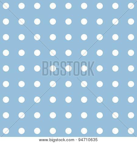 Abstract Polka Dot Blue Pattern With Circles.