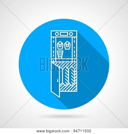 Water purifier blue round vector icon