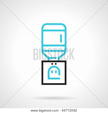 Cooler black and blue line vector icon
