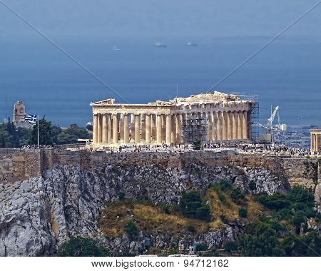 Parthenon temple on Athenian Acropolis Greece