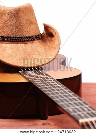 American Country Music Isolated On White
