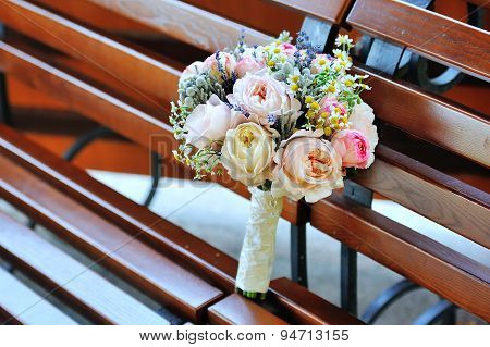Bride's wedding bouquet